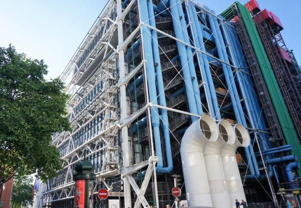 Futuristic centre Pompidou